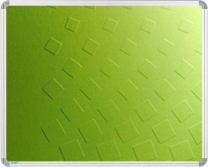 Schallabsorbierende Tafel mit Reliefprägung