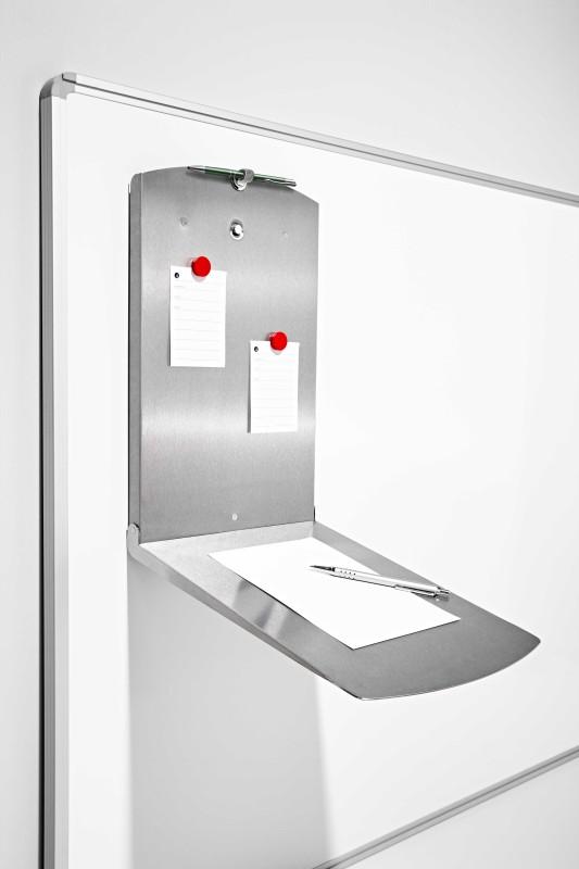 zubeh r edelstahl schreibunterlage b242xh407xt37mm klappbar magnetisch. Black Bedroom Furniture Sets. Home Design Ideas